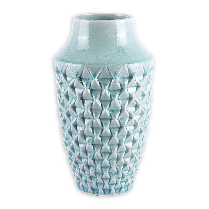 Alternate image 1 for Zuo® Modern Brick Small Ceramic Vase in Light Teal