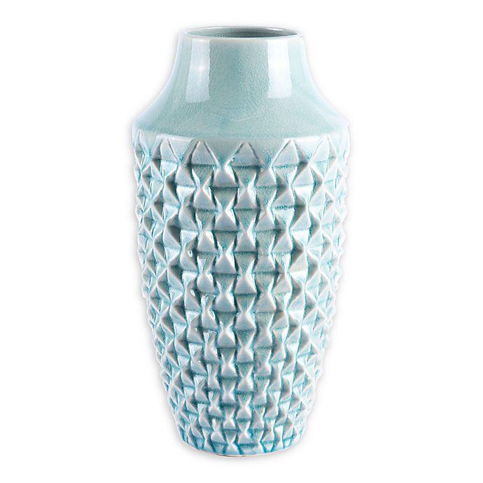 Alternate image 1 for Zuo® Modern Brick Medium Ceramic Vase in Light Teal