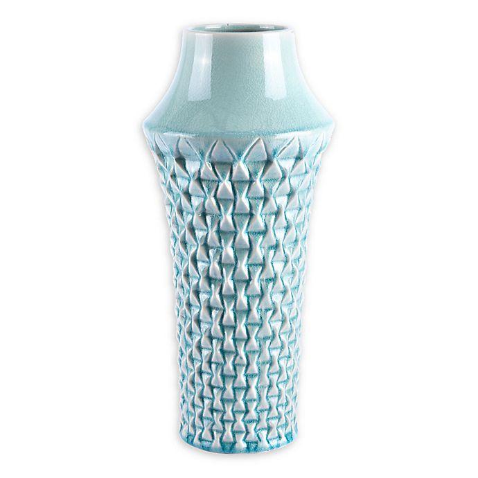 Alternate image 1 for Zuo® Modern Brick Large Ceramic Vase in Light Teal