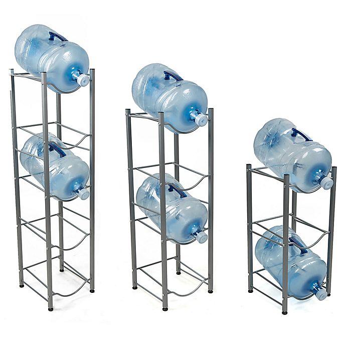Alternate image 1 for Mind Reader Water Cooler Jug Rack in Silver