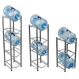 Mind Reader Water Cooler Jug Rack in Silver