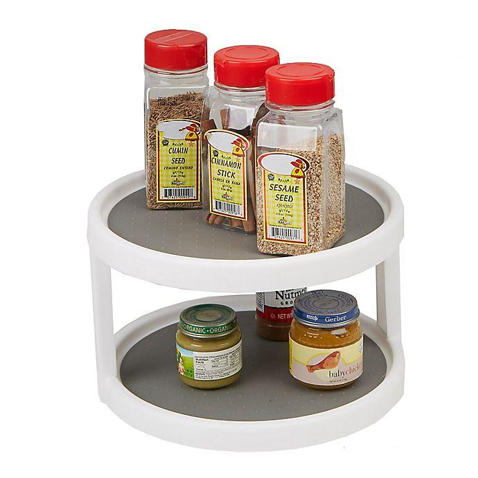 Mind Reader 2 Tier Kitchen Turntable Storage And Organizer