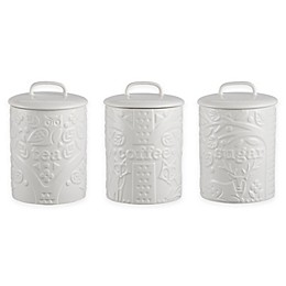Mason Cash® In The Forest Range 3-Piece Tea/Coffee/Sugar Canister Set in Cream