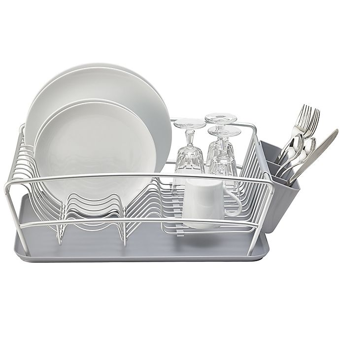 Alternate image 1 for Better Houseware 3-Piece Dish Rack Set in Silver