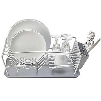 Better Houseware 3-Piece Dish Rack Set in Silver