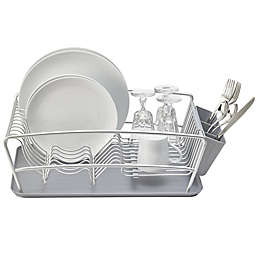 Better Houseware 3-Piece Dish Rack Set in Silver