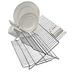 Better Houseware Metallic Folding Dish Rack in Silver