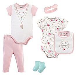 Little Treasures 6-Piece Boho Layette Set