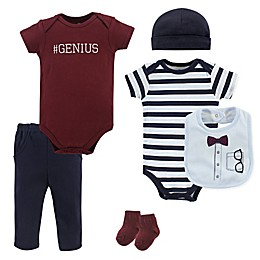 Little Treasures Glasses 7-Piece Bodysuit, Pant, Hat, Bib, and Sock Set