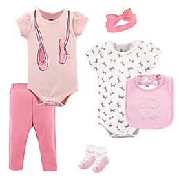 Little Treasures 6-Piece Ballerina Layette Set in Pink