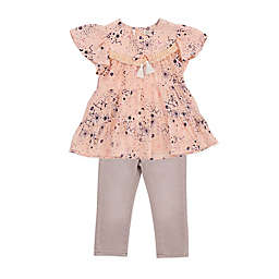 Jessica Simpson 2-Piece Cosmic Pop Top and Pant Set in Peach