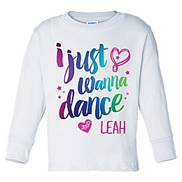 """JoJo Siwa™ """"I Just Wanna Dance"""" Long Sleeve Shirt in White"""