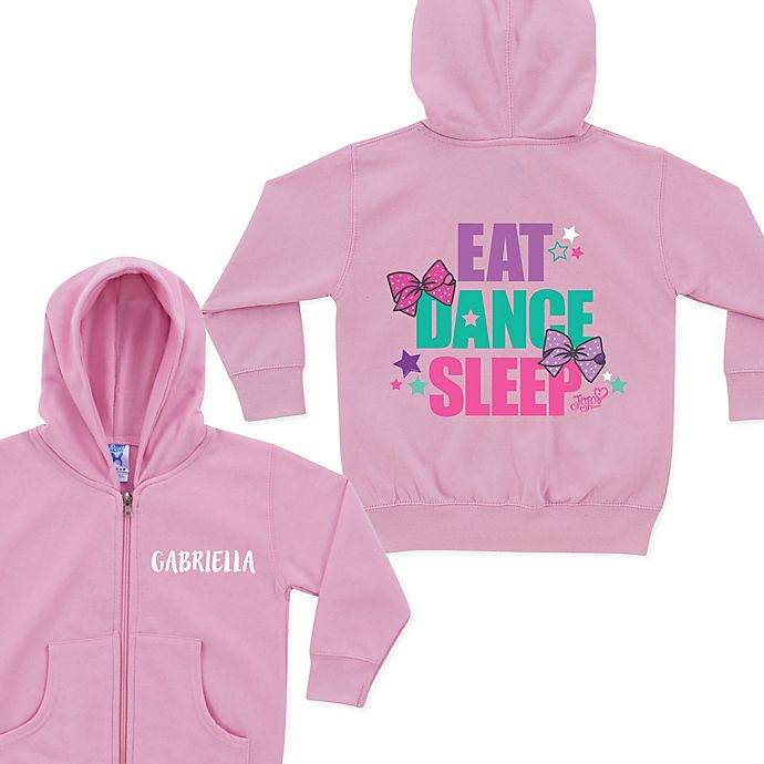 Alternate image 1 for JoJo Siwa™ Eat Sleep Dance Zip Hoodie in Pink