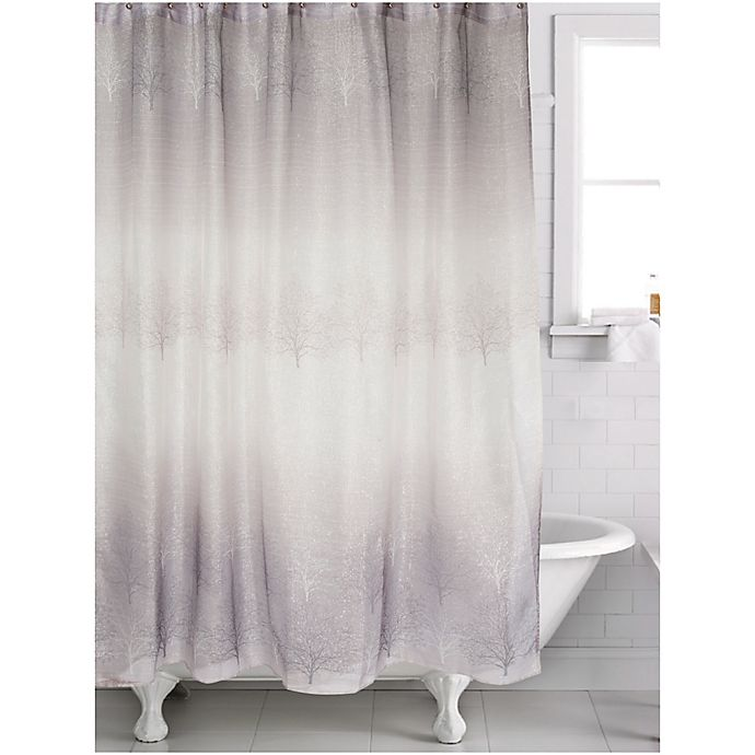 Famous Home 174 Spectrum Shower Curtain In Grey Taupe Bed