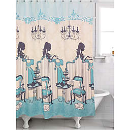 Famous Home® Tea Time Shower Curtain in Turquoise