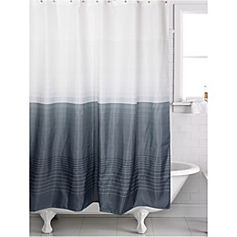 Famous Home® Zack Shower Curtain in Pewter/White