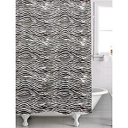 Famous Home® Zebra Shower Curtain in Black/White