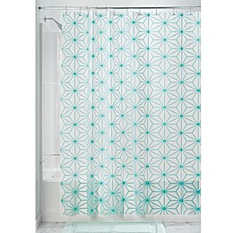 InterDesign® Geo Star Shower Curtain in Teal