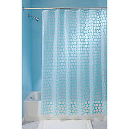 InterDesign® Honeycomb Shower Curtain in Aqua