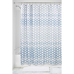 InterDesign® Ombree Hexagon Shower Curtain in Blue
