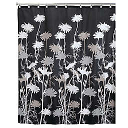 InterDesign® Daizy Shower Curtain in Black
