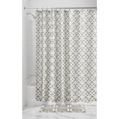 Interdesign 174 Trellis Shower Curtain In Grey Bed Bath
