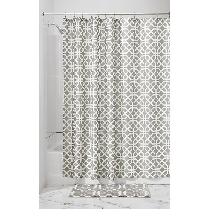 Alternate image 1 for InterDesign® Trellis Shower Curtain in Grey