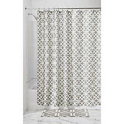 InterDesign® Trellis Shower Curtain in Grey
