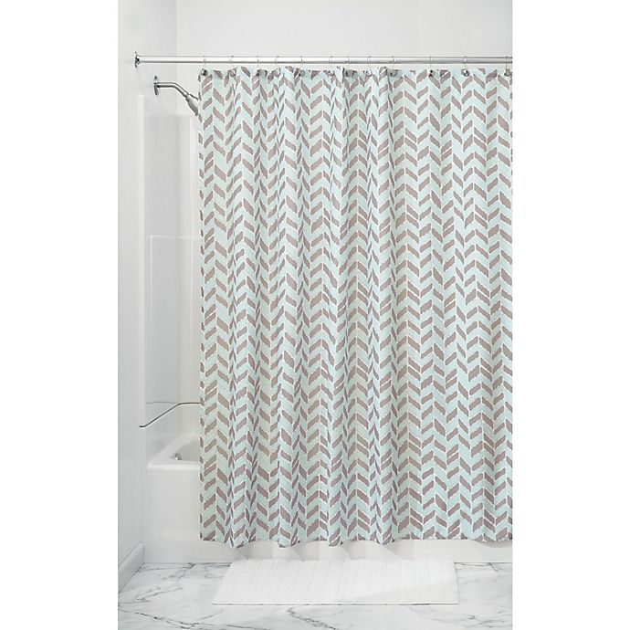 Alternate image 1 for InterDesign® Nora Shower Curtain in Taupe