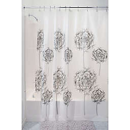 InterDesignR Allium PEVA Shower Curtain In Frost