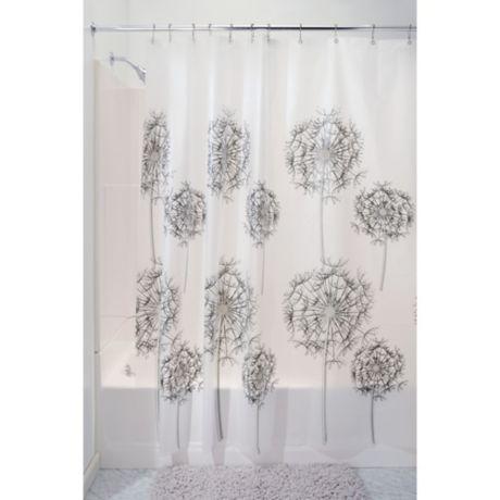Interdesign 174 Allium Peva Shower Curtain In Frost Bed