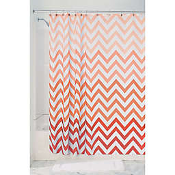 InterDesign® Chevron PEVA Shower Curtain in Coral