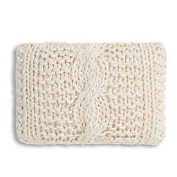 Cloud9 Design Chunky Knit 14-Inch x 20-Inch Throw Pillow in Ivory