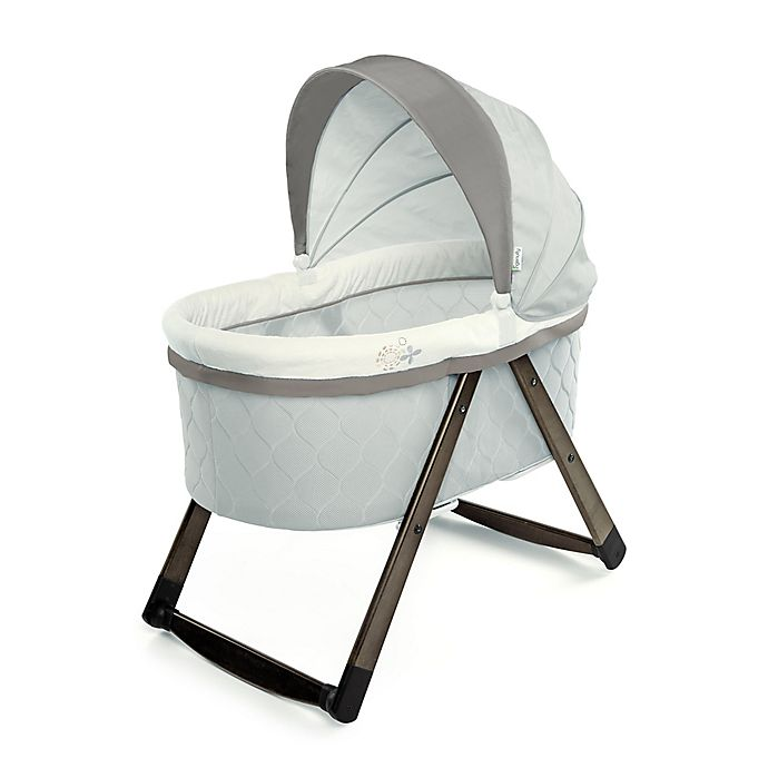 Alternate image 1 for Ingenuity™ FoldAway Rocking Wood Bassinet™ in Carrington