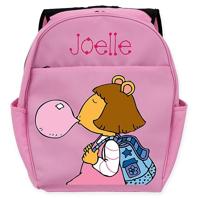 Alternate image 1 for Arthur® D.W Bubblegum Toddler Backpack in Pink