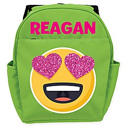 Emoji Full of Love Backpack in Green
