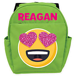 Emoji Full of Love Backpack in Green