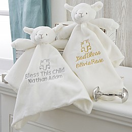 Christening Lamb Blankie in White