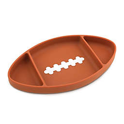 Bumkins® Football Silicone Grip Dish in Brown