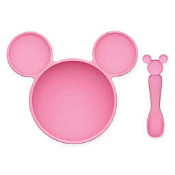 Bumkins® Disney® Minnie Mouse Bowl and Spoon Feeding Set in Pink