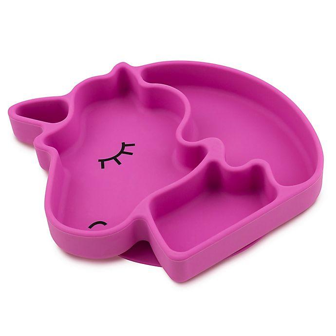 Alternate image 1 for Bumkins® Unicorn Silicone Grip Dish in Purple