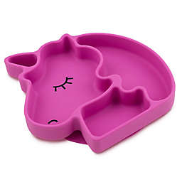 Bumkins® Unicorn Silicone Grip Dish in Purple