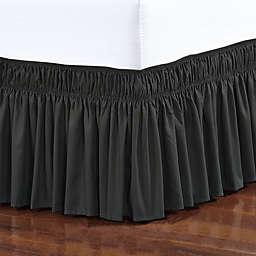 Elegant Comfort Wraparound Ruffle Bed Skirt
