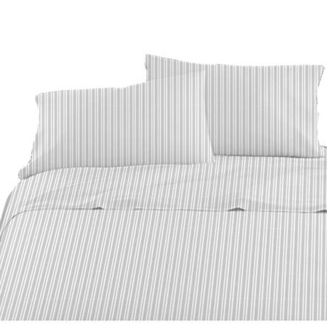 American Kids Ticking Stripe Sheet Set, Black Ticking Stripe Bedding