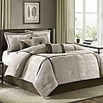 Madison Park Dallas 7-Piece King Comforter Set in Khaki