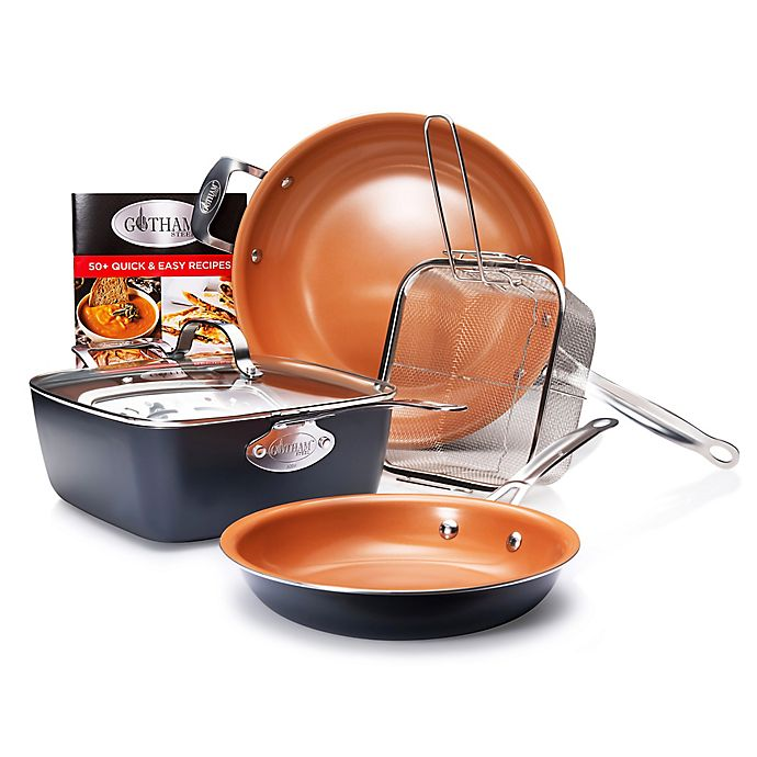 Alternate image 1 for Gotham™ Steel 11-Piece Cookware and Pro Cut Knife Set