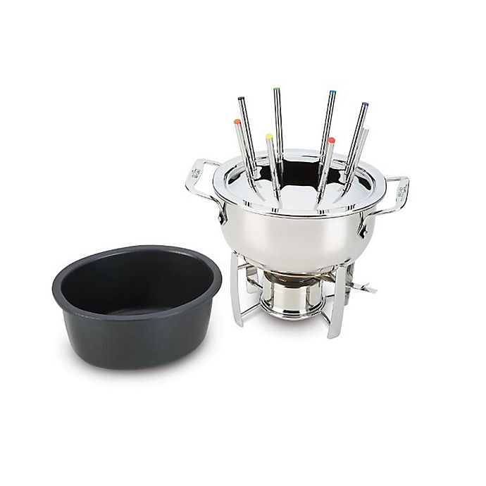 Alternate image 1 for All-Clad 3.5 qt. Stainless Steel Fondue Pot