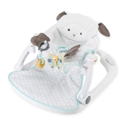 Fisher Price 174 Lamb Sit Me Up Floor Seat With Tray In White