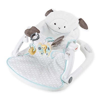 Fisher Price® Lamb Sit-Me-Up Floor Seat with Tray in White/Teal