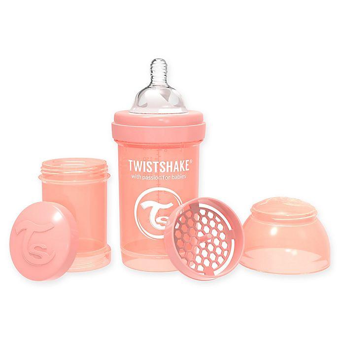 Alternate image 1 for Twistshake™ 6 fl. oz. Plastic Wide-Neck Anti-Colic Baby Bottle in Pastel Peach